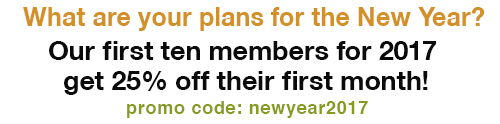 Promo: newyear2017 for 25% off deal for new members in 2017