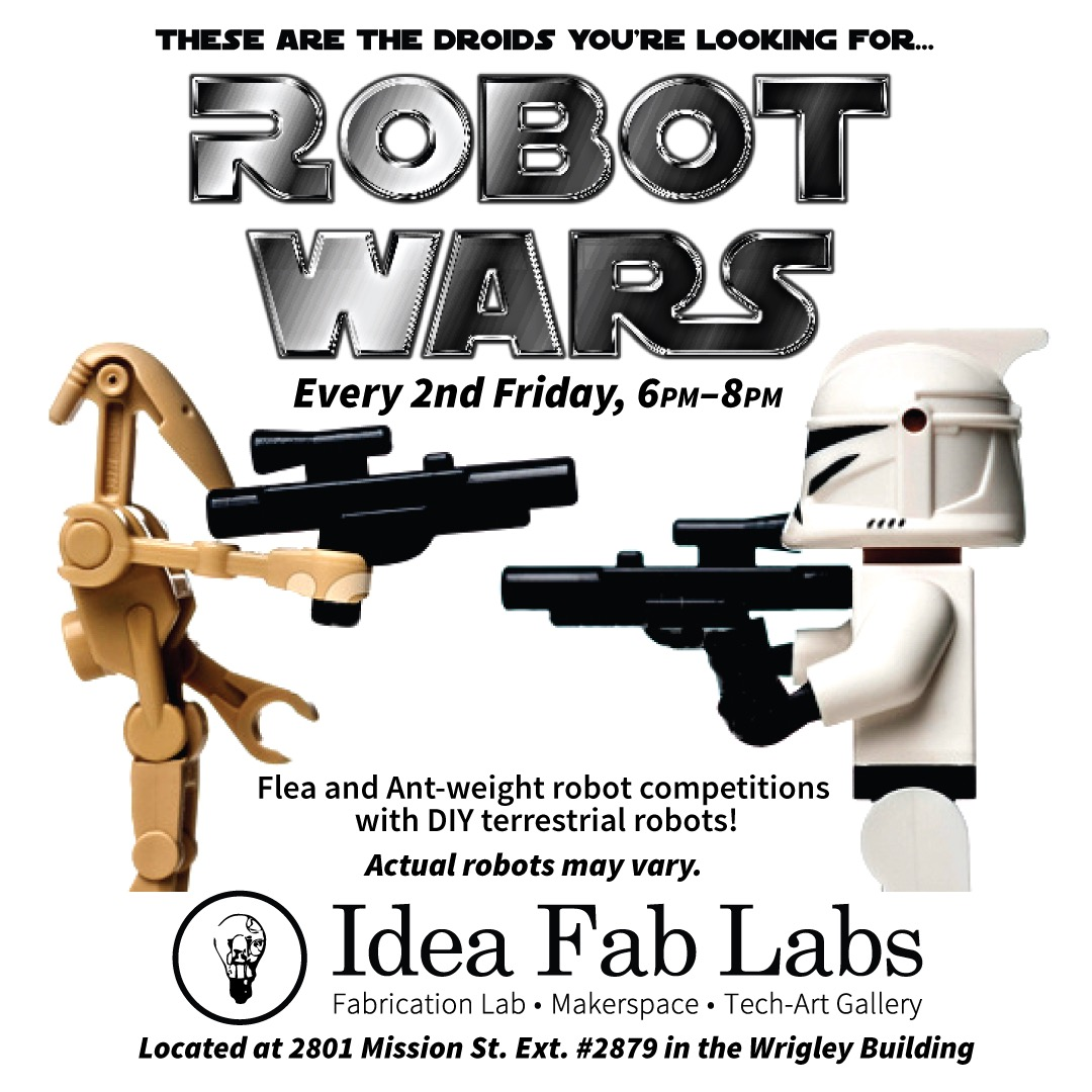 Robot Wars! – Second Monday of the month!
